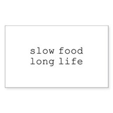 slow food long life - Rectangle Decal