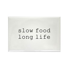 slow food long life - Rectangle Magnet