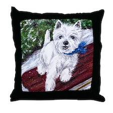 Westie Wonderland Throw Pillow