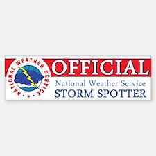 "NWS ""Official"" Storm Spotter Bumper Bumper Sticker"