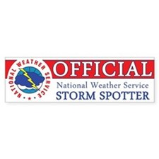 """NWS """"Official"""" Storm Spotter Car Sticker"""