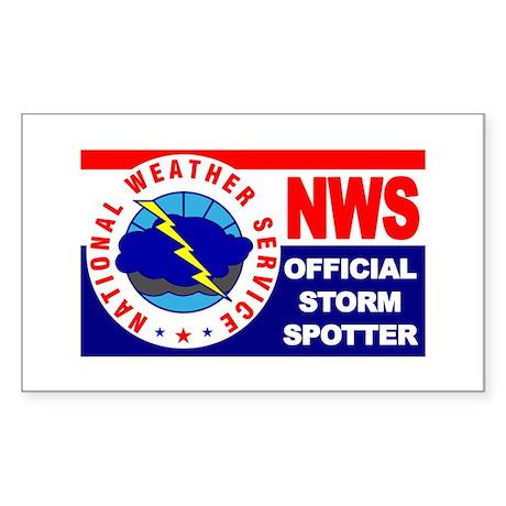 5X3-NWS-OfficialStormSpotter Sticker