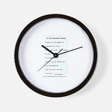 Poem Wall Clock