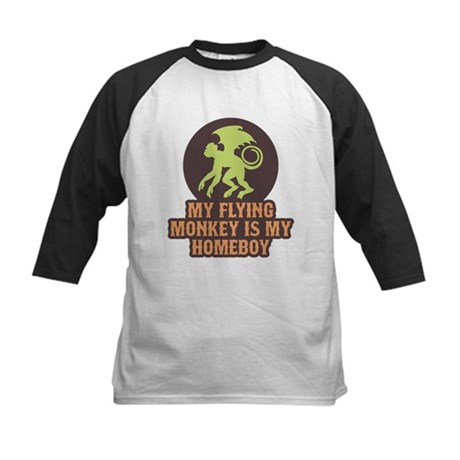 My Flying Monkey Is My Homeboy Kids Baseball Jerse