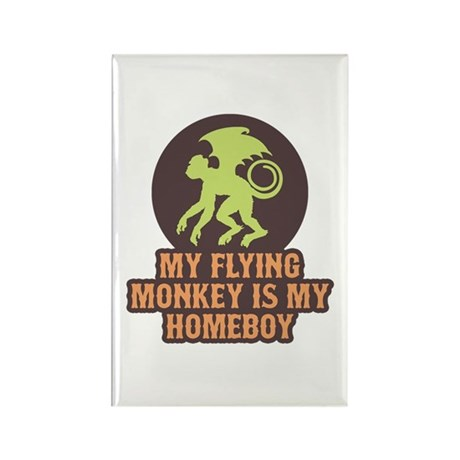 My Flying Monkey Is My Homeboy Rectangle Magnet