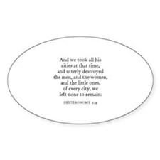 DEUTERONOMY 2:34 Oval Decal