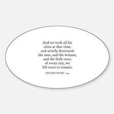 DEUTERONOMY 2:34 Oval Decal