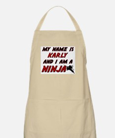 my name is karly and i am a ninja BBQ Apron