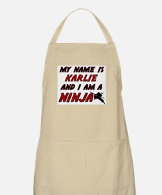 my name is karlie and i am a ninja BBQ Apron