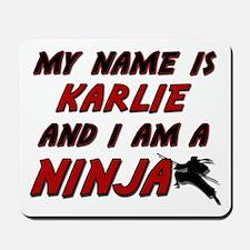 my name is karlie and i am a ninja Mousepad