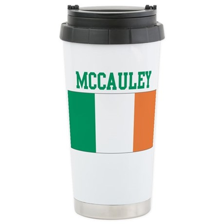 McCauley (ireland flag) Stainless Steel Travel Mug
