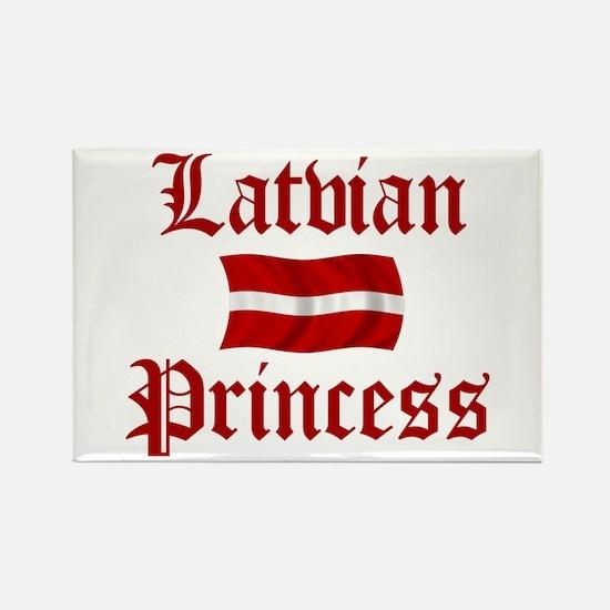 Latvian Princess Rectangle Magnet