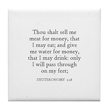 DEUTERONOMY  2:28 Tile Coaster