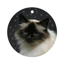 Birman Kitten with Stars Ornament