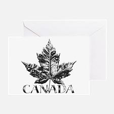 Canada Greeting Card Gold Maple Leaf Art Card