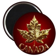 Metal Canada Fridge Magnet Cool Gold Metallic Gift