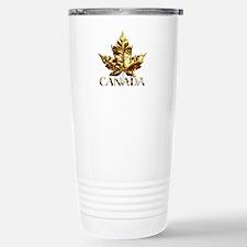 Metal Canada Travel Mug Gold Maple