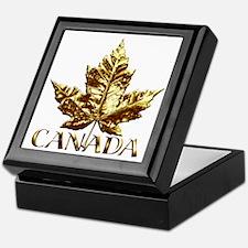 Canada Keepsake Box Gold Maple Leaf Jewelry Box