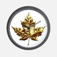 Gold Canada Souvenir Wall Clock