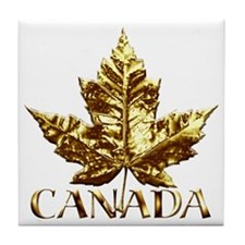 Canada Coasters Gold Maple Leaf Souvenir Coasters