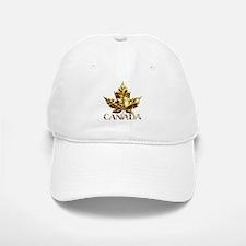 Gold Canada Maple Leaf Souvenir Baseball Baseball Baseball Cap