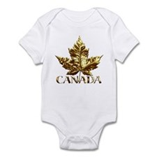 Canada Infant Baby Gifts Gold Maple Leaf Body Suit