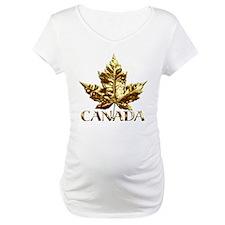 Canada Shirt Gold Maple Leaf Souvenirs