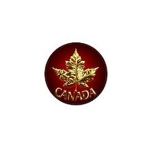 Canada Mini Button Pin Gold Maple leaf Souvenir