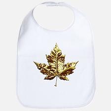 Canada Baby Bib Gold Maple Leaf Baby Gifts