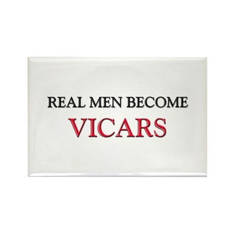 Real Men Become Vicars Rectangle Magnet (10 pack)