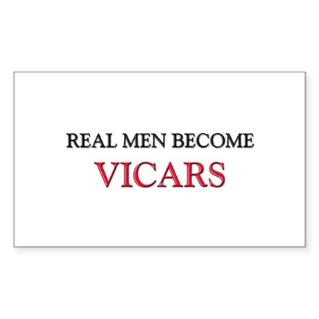 Real Men Become Vicars Rectangle Sticker