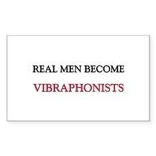 Real Men Become Vibraphonists Rectangle Decal