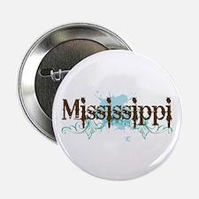 "Grunge Blue Mississippi 2.25"" Button (10 pack)"