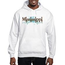 Grunge Blue Mississippi Hoodie
