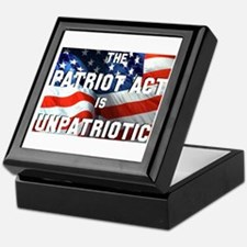 Patriot Act is Unpatriotic Keepsake Box