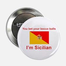 """Sicilian Bocce Balls 2.25"""" Button"""