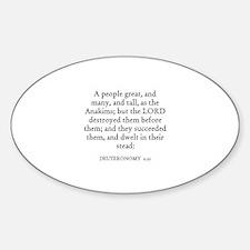 DEUTERONOMY 2:21 Oval Decal