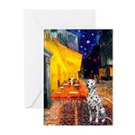 Cafe / Dalmatian #1 Greeting Cards (Pk of 20)