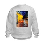 Cafe / Dalmatian #1 Kids Sweatshirt
