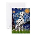 Starry / Dalmatian #1 Greeting Cards (Pk of 10)