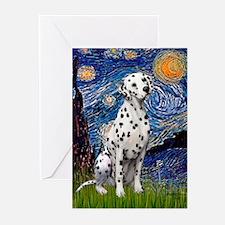 Starry / Dalmatian #1 Greeting Cards (Pk of 10)