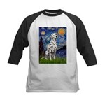 Starry / Dalmatian #1 Kids Baseball Jersey