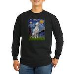 Starry / Dalmatian #1 Long Sleeve Dark T-Shirt