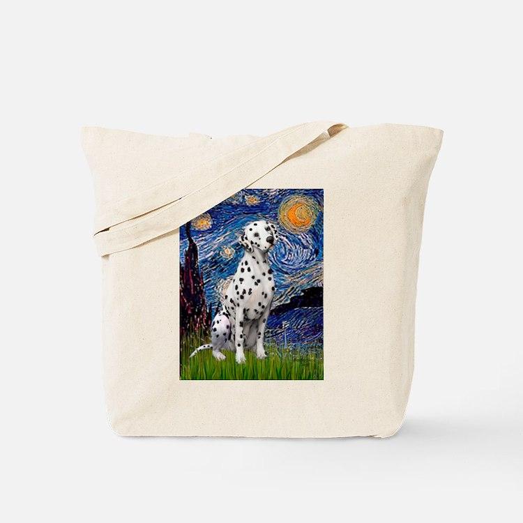 Starry / Dalmatian #1 Tote Bag