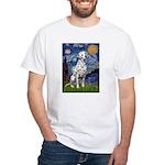 Starry / Dalmatian #1 White T-Shirt