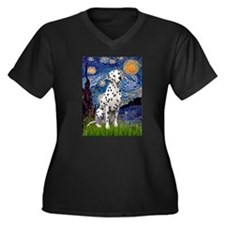 Starry / Dalmatian #1 Women's Plus Size V-Neck Dar
