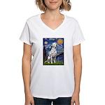 Starry / Dalmatian #1 Women's V-Neck T-Shirt