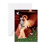 Angel / Dalmatian #1 Greeting Cards (Pk of 10)
