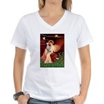 Angel / Dalmatian #1 Women's V-Neck T-Shirt