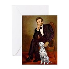 Lincoln / Dalmatian #1 Greeting Card